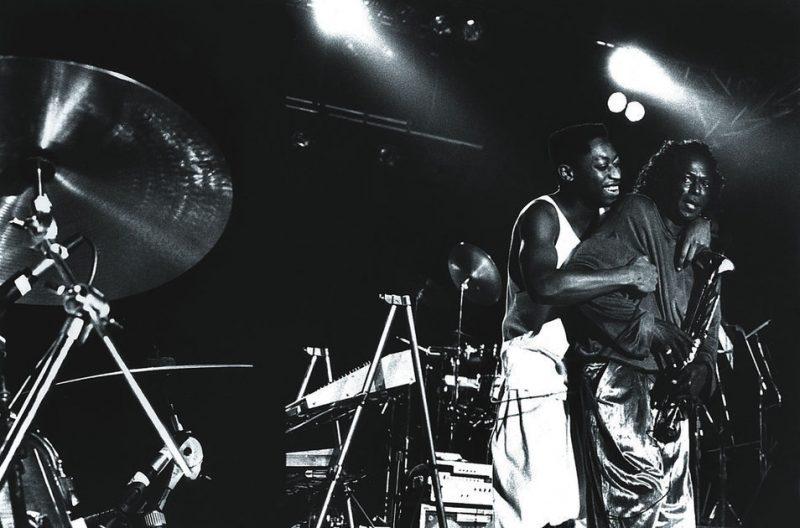 With Darryl Jones, 1987