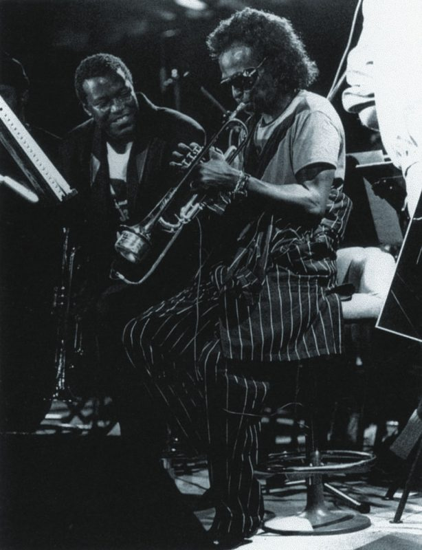 With Wallace Roney, Montreux Jazz Festival, Montreux, Switzerland 1991