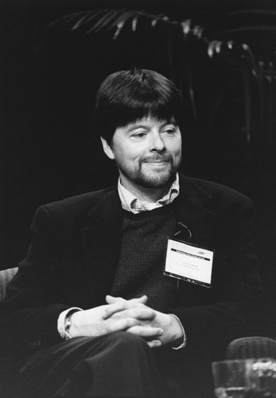 Filmmaker Ken Burns speaks at the 2000 IAJE Conference