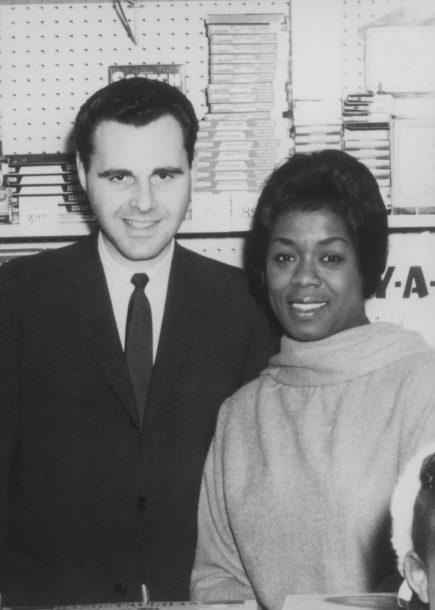JazzTimes founder Ira Sabin with Sarah Vaughan, circa 1967