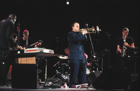 Steven Bernstein and Sex Mob, joined by DJ Logic and Bill Frisell, at the Wall-to-Wall Miles Davis 12-hour concert, 2001 image 0