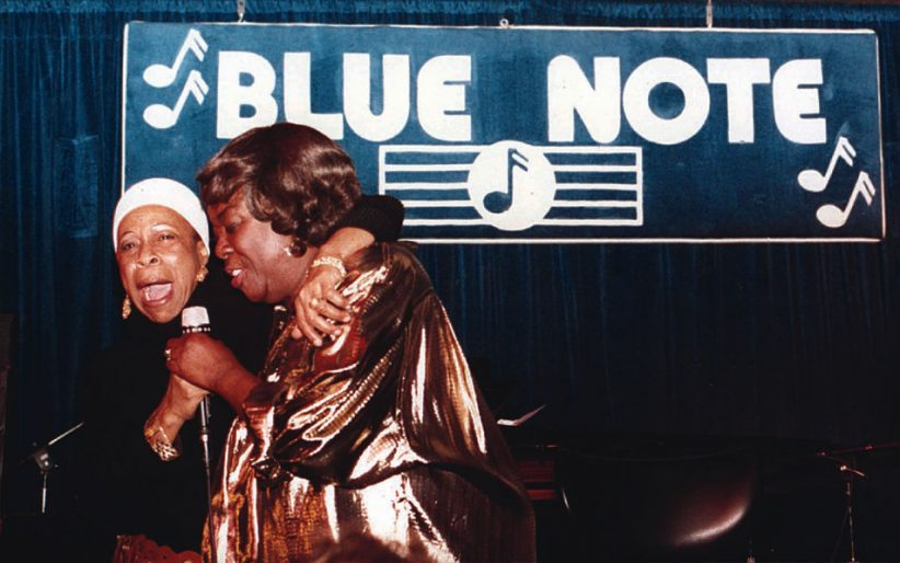 Betty Carter and Sarah Vaughan at the Blue Note Jazz Club