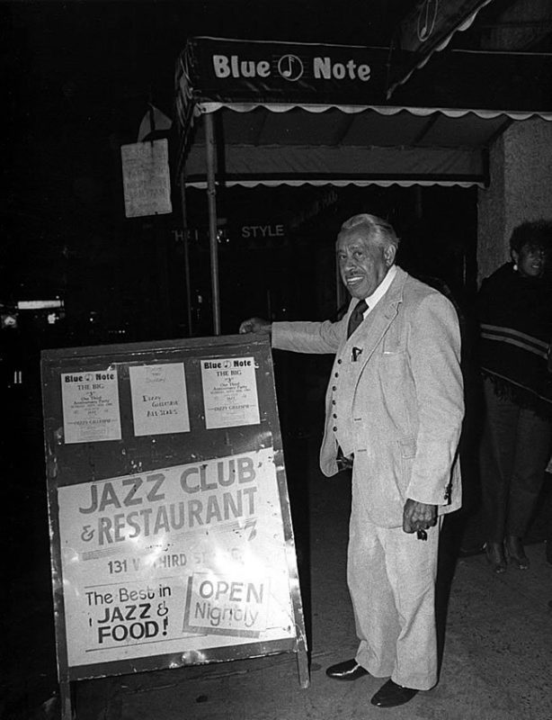 Cab Calloway stands outside the club