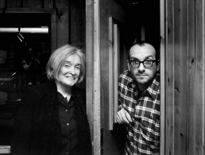 Sue Mingus and Elvis Costello