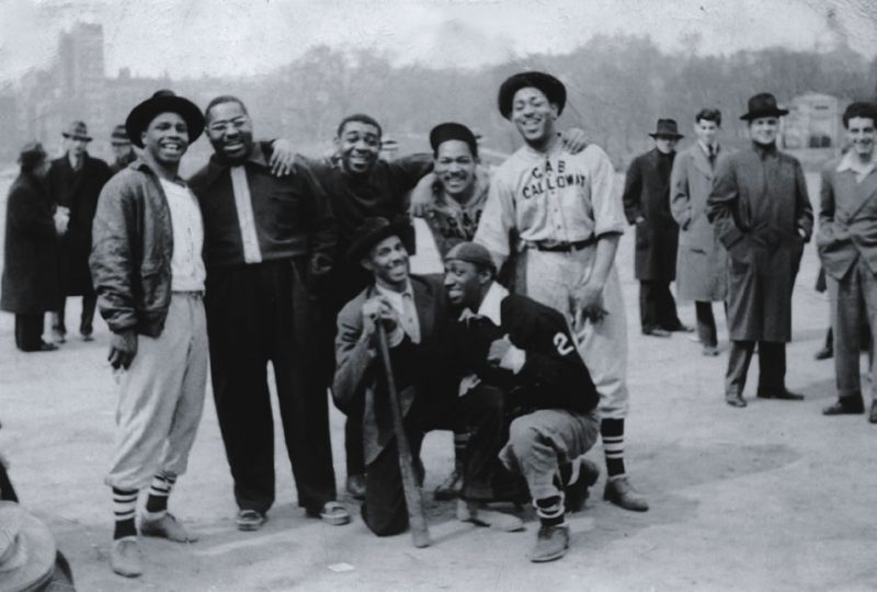 Dizzy and Cab Calloway baseball team. On the road with Cab Calloway's band, Milwaukee, Wisc., 1937