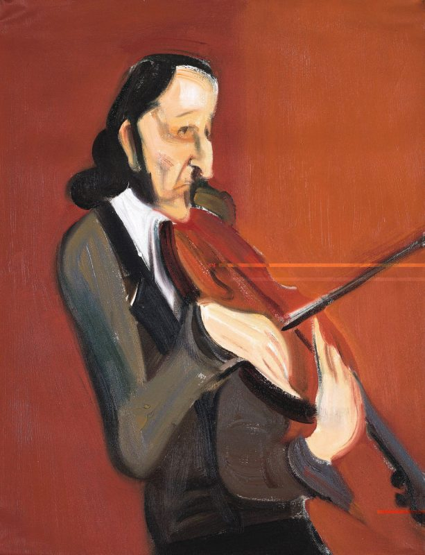 A painting of violin virtuoso Niccolo Paganini
