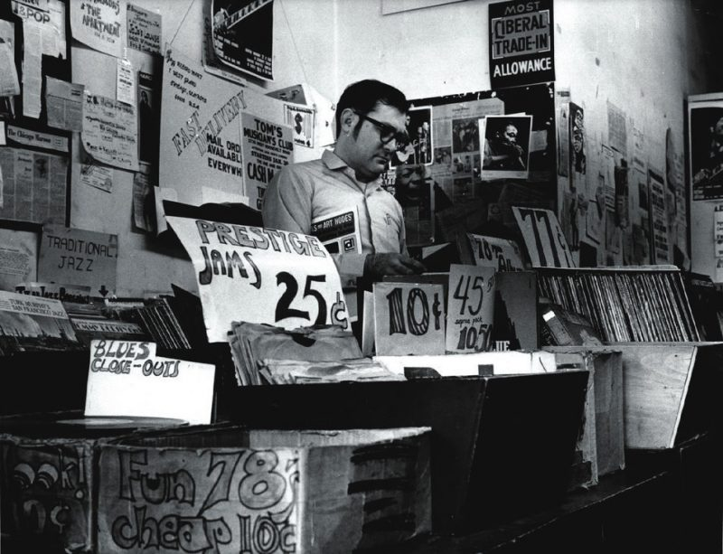 Bob Koester at one of the old Jazz Record Mart locations