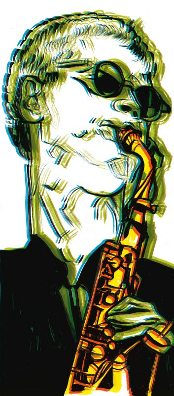 illustration of David Sanborn