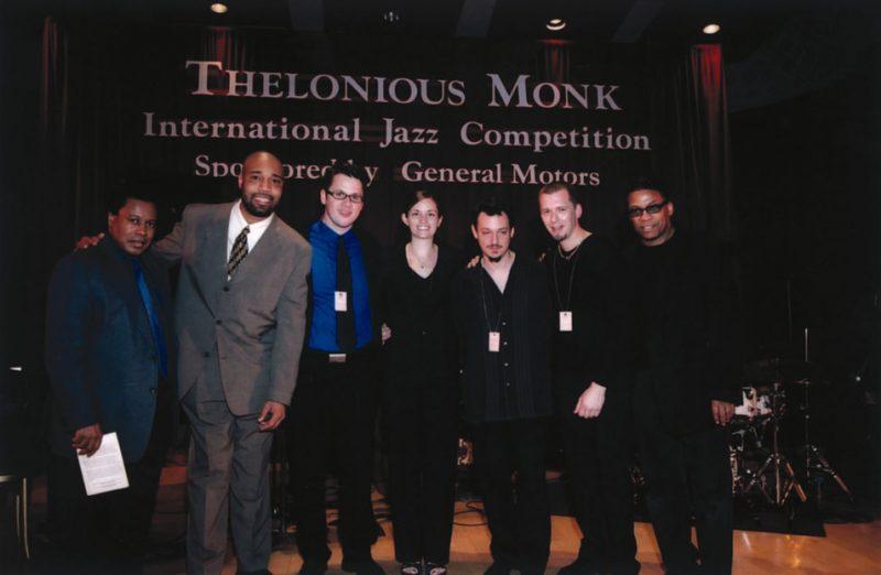 L to R: Wayne Shorter, Andre Hayward, Marshall Gilkes, Karin Harris, Noah Bless, David Gibson and Herbie Hancock
