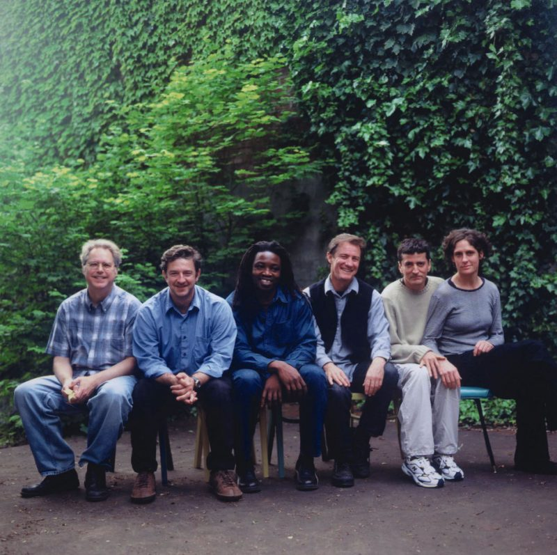 L to R: Bill Frisell, Christos Govetas, Sidiki Camara, Greg Leisz, Vinicius Cantuaria and Jenny Scheinman
