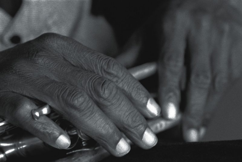 The hands of Wadada Leo Smith