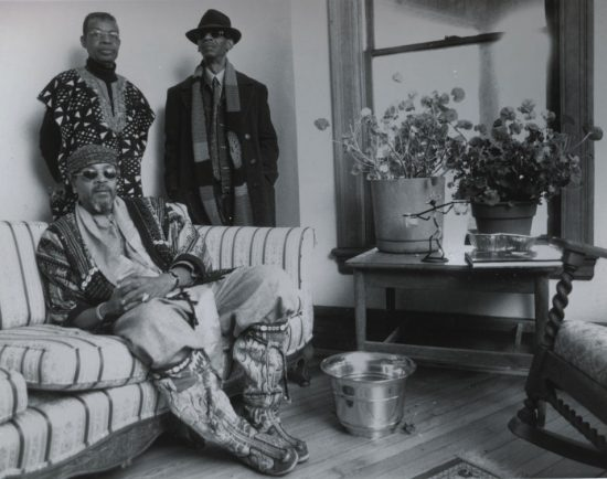 Art Ensemble of Chicago in 2003: Famoudou Don Moye (front), Malachi Favors Moghostut (left) and Roscoe Mitchell image 0