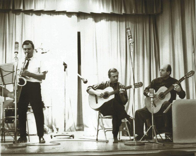 Stan Getz, Joe Byrd and Charlie Byrd at the Jazz Samba session