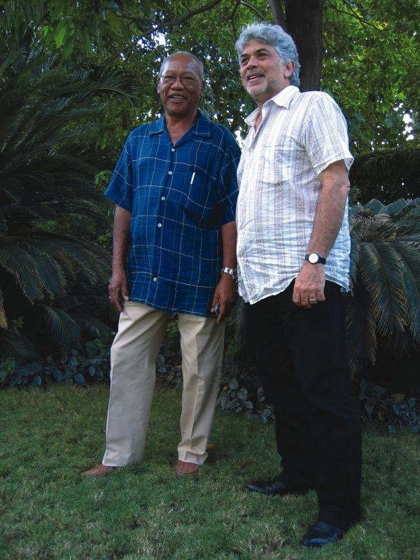 Ernest Ranglin and Monty Alexander in Kingston, Jamaica, January 2004