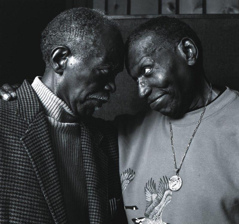 Elvin Jones with Hank Jones, May 2002