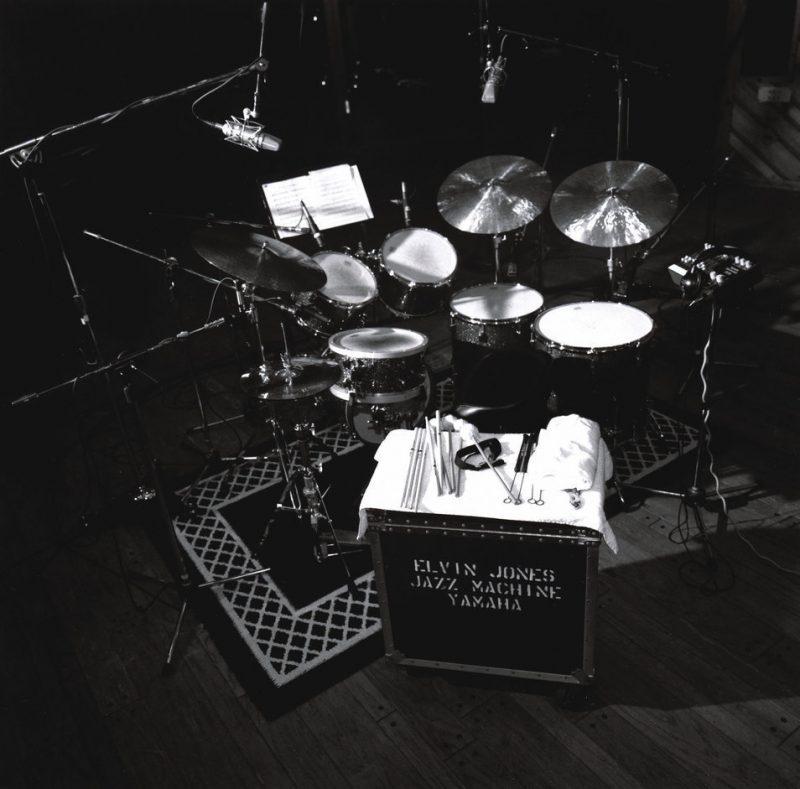 Elvin Jones kit at Avatar Studios, May 2002