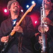 "Steven ""Cat"" Coore of Third World with saxophonist Arturo Tappin at the Air Jamaica Jazz and Blues Festival. image 0"