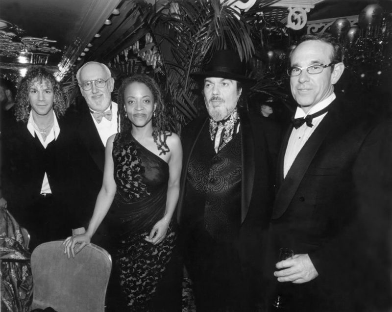 No, that's not Warren Beatty! L to R: David Bryan of Bon Jovi, Bruce Lundvall, Cassandra Wilson, Dr. John and Beatty look-alike Jim Fifield (former EMI Chairman) after the 1997 Grammy Awards.