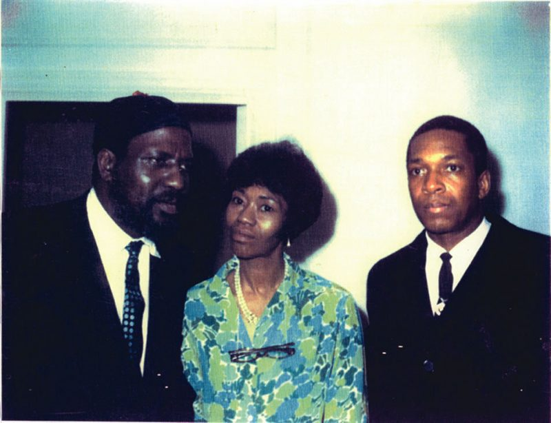 Thelonious Monk and Nellie Monk at their home with John Coltrane in the late 1950s.