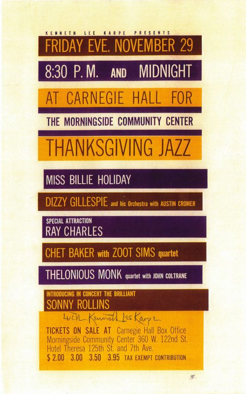 A flyer for the Carnegie Hall concert