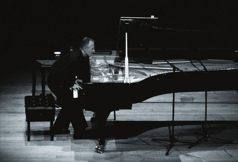Jarrett onstage in Japan in October 2002. By this time, his solo improvisations had developed into more concise melodic inventions. (photo by Junichi Hirayama/ECM Records)