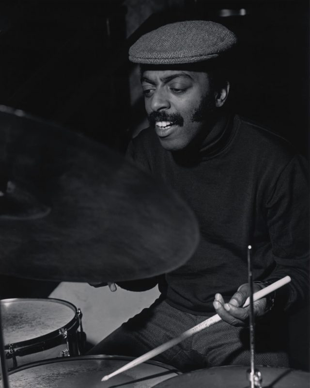 "Roy Haynes in 1968, recording Jack DeJohnette's debut, ""The DeJohnette Complex"""