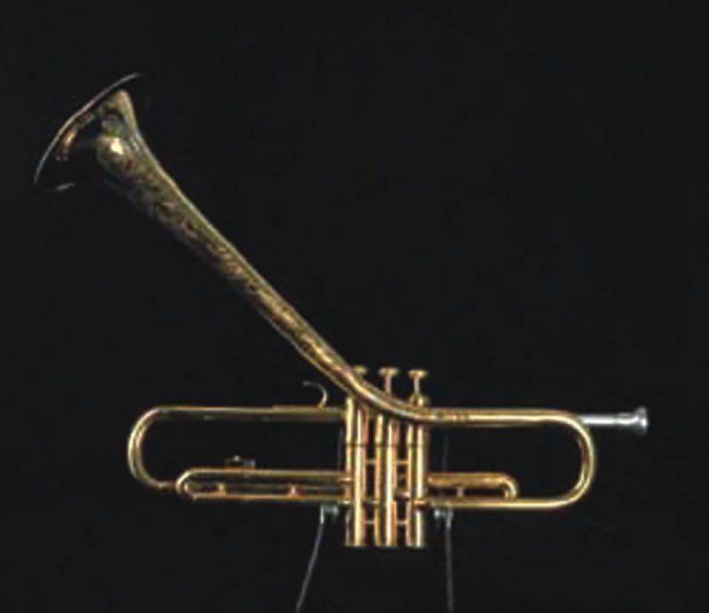 Dizzy Gillespie's custom Martin trumpet