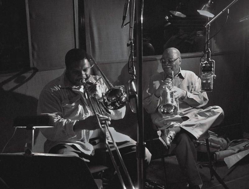 Wycliffe Gordon recording with Clark Terry