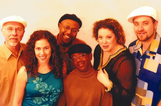 Slammin All-Body Band (L to R): Keith Terry, Destani Wolf, Bryan Dyer, Kenny Washington, Zoe Ellis, Steve Hogan image 0