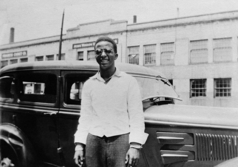 A young Strayhorn, posing in the Homewood section of Pittsburgh.