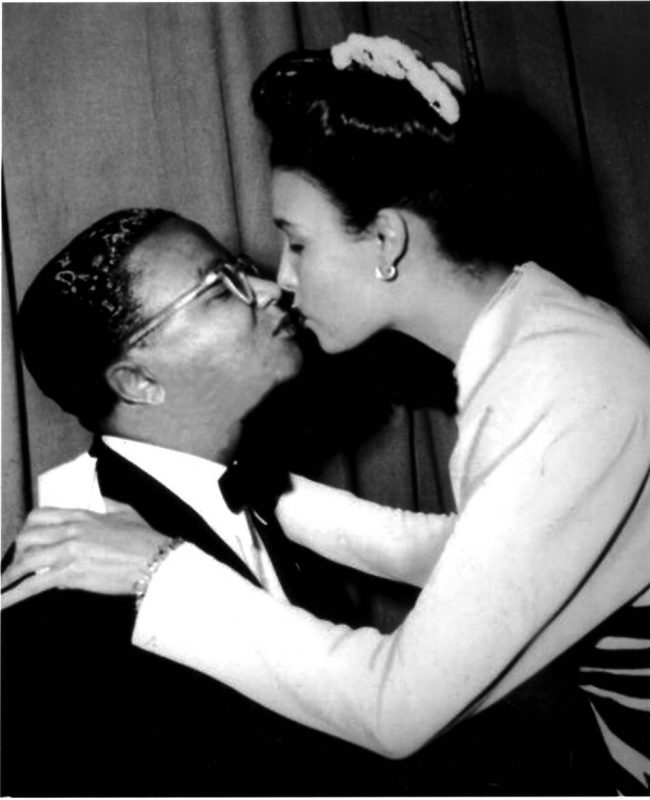 Strayhorn smooching with Lena Horne.