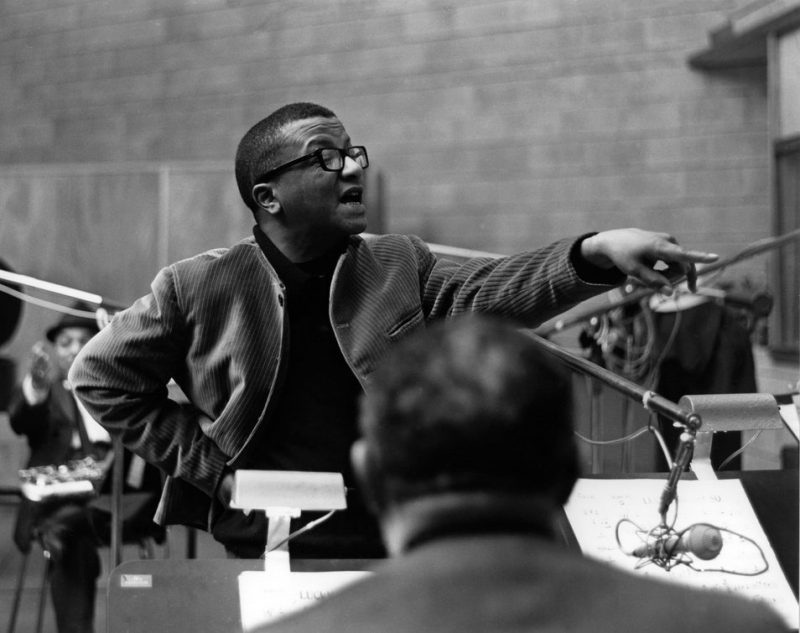 Strayhorn leading the band.