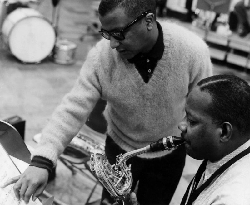 Strayhorn with baritone saxophonist Harry Carney.