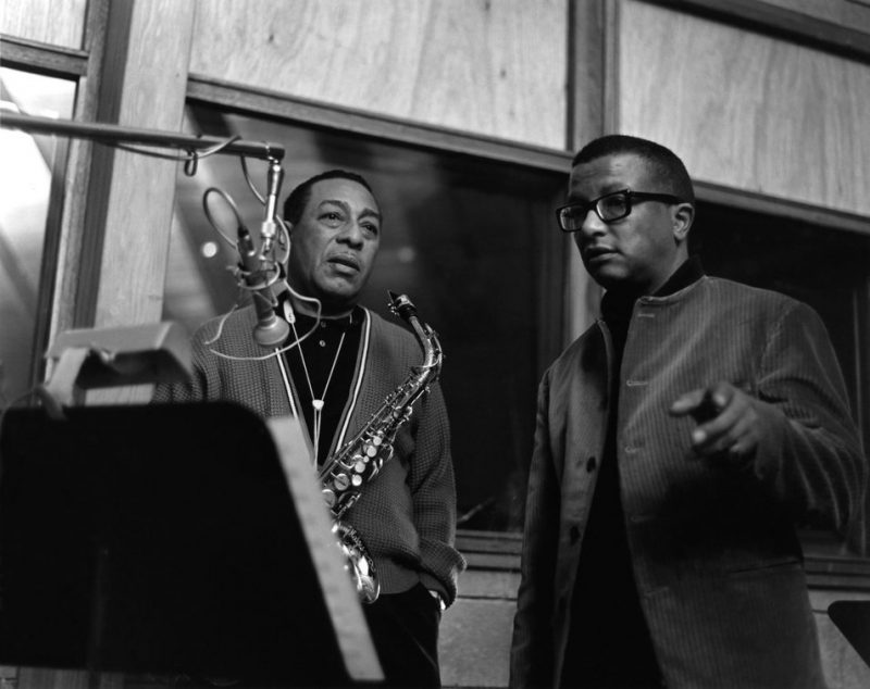 Johnny Hodges and Billy Strayhorn from the Verve recording session for Billy Strayhorn & The Orchestra featuring Johnny Hodges.