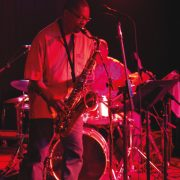 "Ravi Coltrane and Jeff ""Tain"" Watts tear it up in the Blue Note-presented Somethin' Else tent at Bonnaroo image 0"