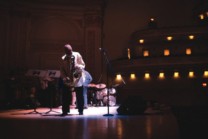 Sonny listens to the sound of his tenor in an empty Carnegie Hall.