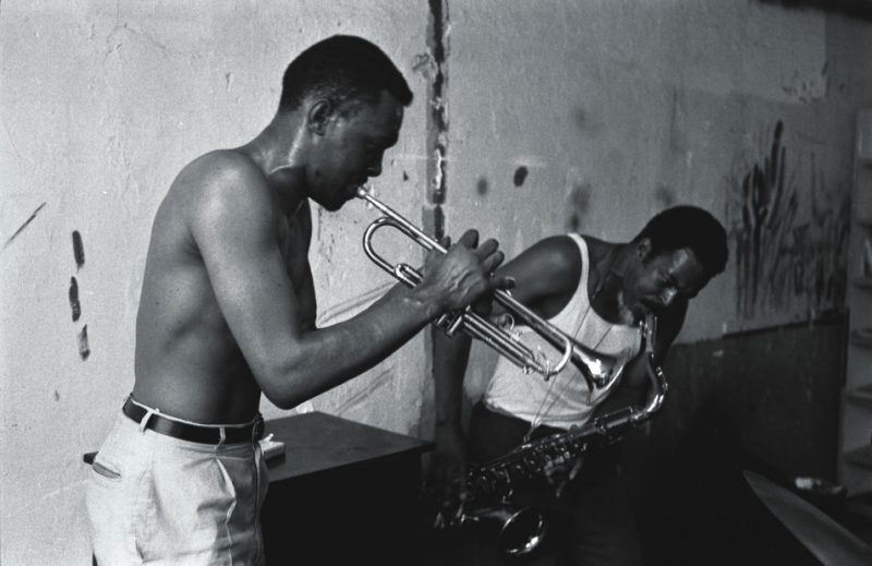 Donald Ayler, trumpet, and Albert Ayler, saxophone, New York, mid-1960s.