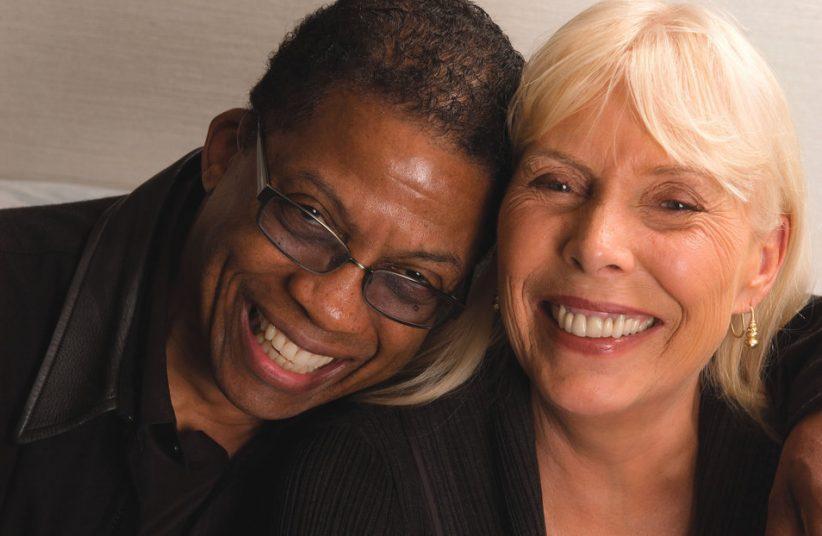 Photo of Herbie Hancock and Joni Mitchell