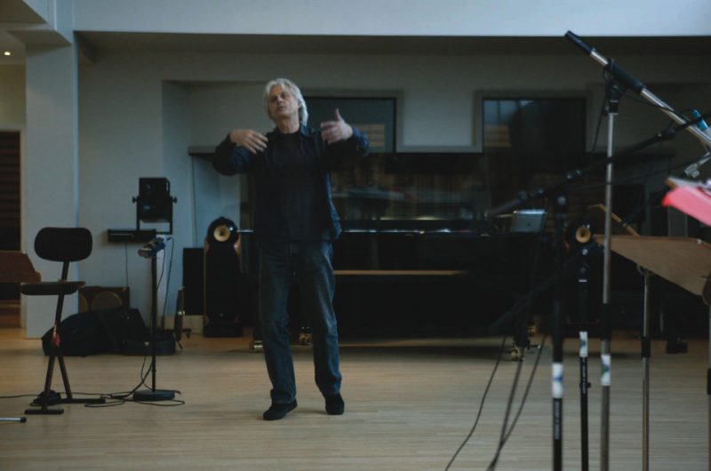 Manfred Eicher in the studio