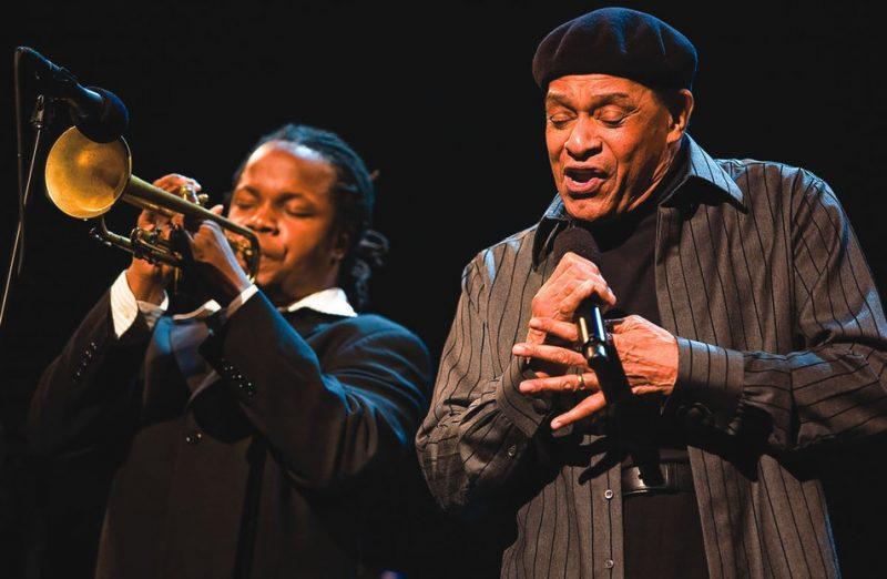 2007 Thelonious Monk Trumpet Competition winner Ambrose Akinmusire with Al Jarreau