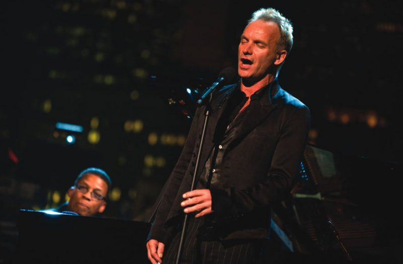 Sting with Herbie Hancock at the 2007 Thelonious Monk Competition
