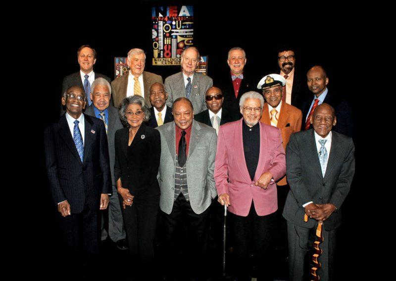 NEA chairman Dana Gioia (top left) with Jazz Masters