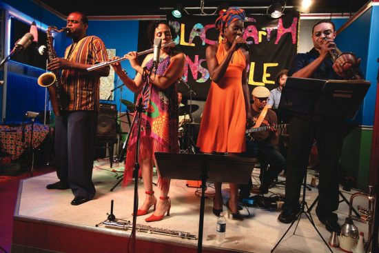 Nicole Mitchell, on flute, with her Black Earth Ensemble image 0