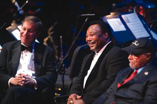 Dana Gioia (left) with George Benson and Jimmy Cobb image 0