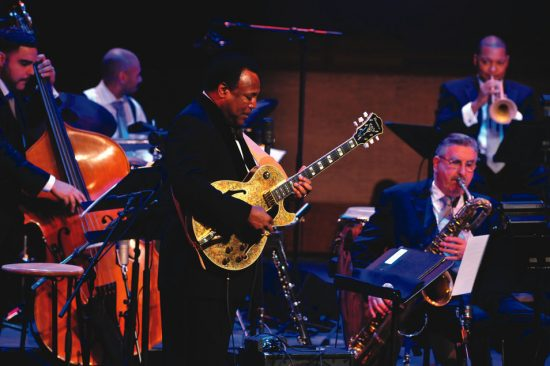 George Benson with the Jazz at Lincoln Center Orchestra at the 2009 NEA Jazz Master induction ceremonies image 0