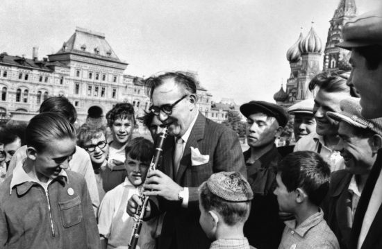 Benny Goodman performs for a young audience in Red Square (Moscow, Soviet Union, 1962). image 0