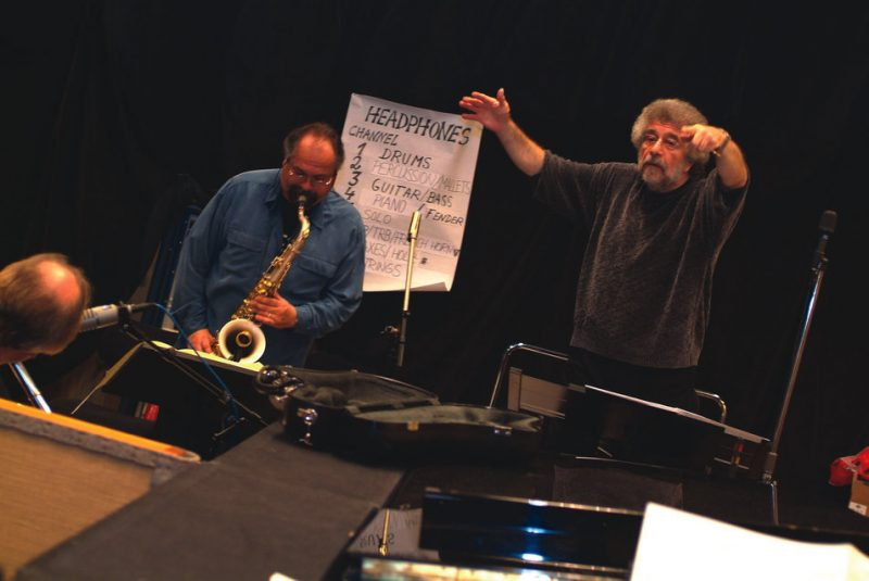 Joe Lovano (left) with Michael Abene