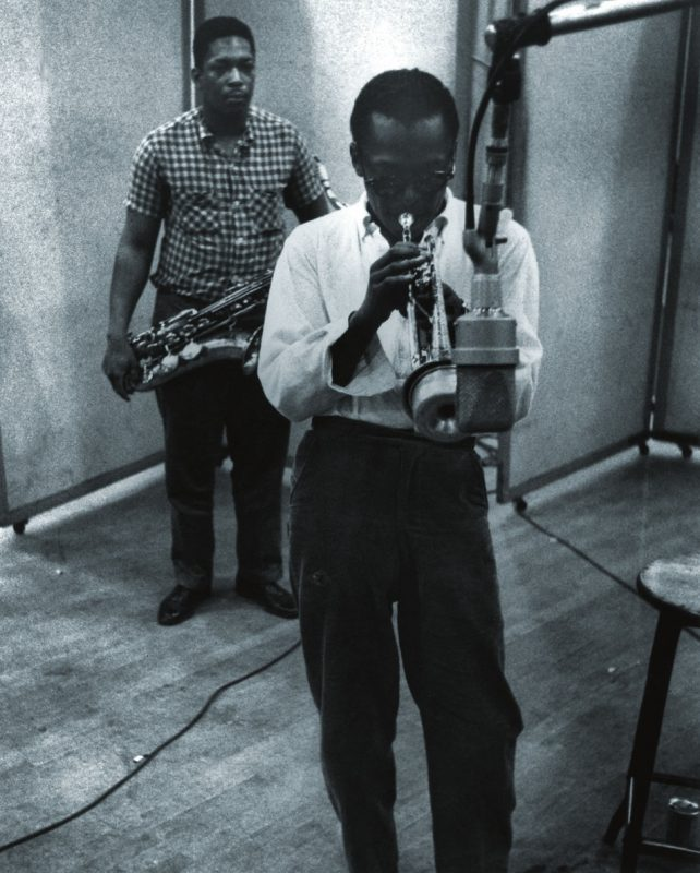 John Coltrane with Miles Davis, Columbia Recording Studios, New York, NY 1958