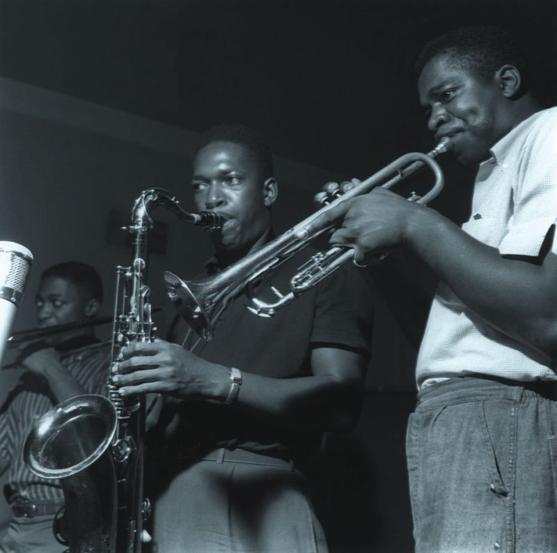 John Coltrane with Curtis Fuller and Donald Byrd, Van Gelder Studio, Hackensack, NJ 1957