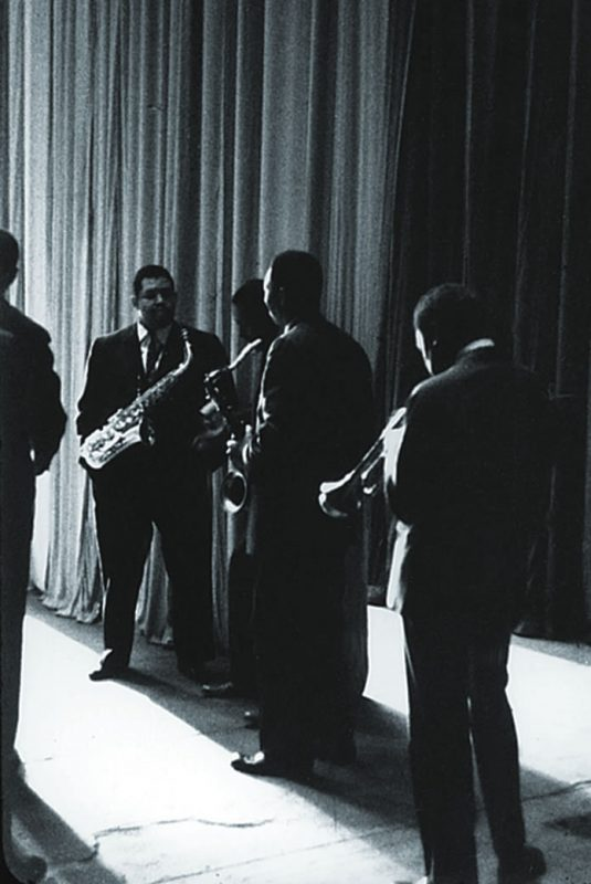 John Coltrane with Paul Chambers, Cannonball Adderley, Jimmy Cobb and Miles Davis, The Chicago Amphitheater, Chicago, IL 1957